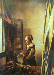Vermeer loved to use the light from a window as the key light.