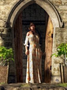 Woman At A Medieval Door